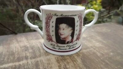 2002 Queen Mother In Memoriam Loving Cup Chown China Only 70 Made