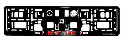 Ac/Dc License Plate Holder Highway to Hell Official Angus Acdc