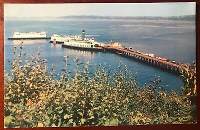 Postcard Vashon Island, Washington North End Ferry Dock