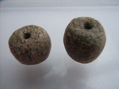 2 Ancient Paleolithic Bone, Mammoth Beads, Stone Age VERY RARE!  TOP !!