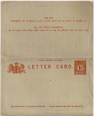 c1880s New South Wales 1½d Specimen overprint postal stationery letter card mint