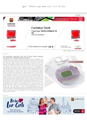 Barcelona Camp Nou Stadium Tour Tickets X2 1 Adult - 1 Youth