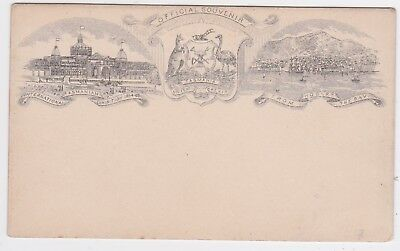 Tasmania 1894/5 QV 1d Postal Stationery Pictorial PC Hobart Bay/Exhibition H&G 5