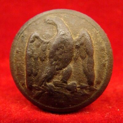 Dug Confederate Army Officer's Coat Button From Fredericksburg Va. Civil War.