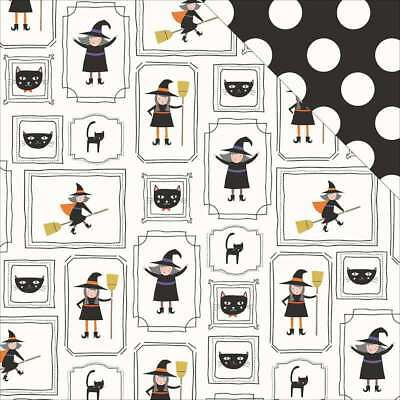 """Trick Or Treat Double-Sided Cardstock 12""""X12"""" Witches And Friends 699464221825"""