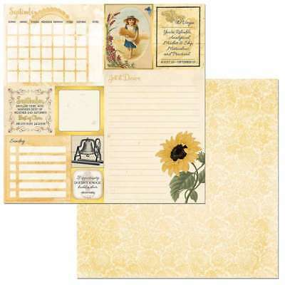 """On This Day Double-Sided Cardstock 12""""X12"""" September 665573072542"""