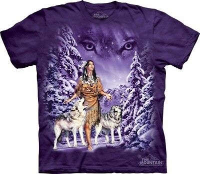 Eyes T-Shirt by The Mountain. Wolf Wolves Native American Indian Sizes S-5XL NEW