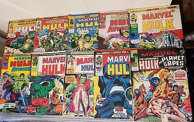 The Mighty World Of Marvel The Incredible Hulk Comic Bundle Including Issue 100