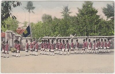 Indonesia - Ethnography (Army, troops) - with stamp 1908