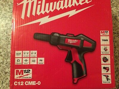 multimetre Pince Ampermetrique Milwaukee C12 CME M12 New In Box