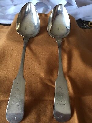 antique coin silver spoons