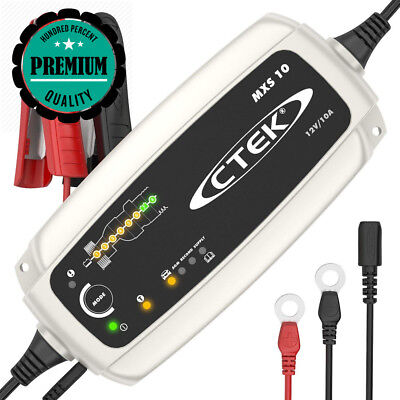 CTEK MXS 10 Fully Automatic Battery Charger (Charges, Maintains and...