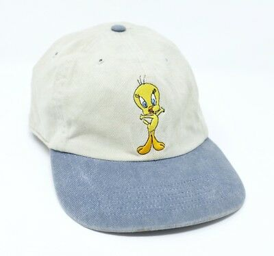 Vintage Looney Toons Tweetie Pie Baseball Cap M Warner Bros Retro USA 1998  90s 402bf7c033d1