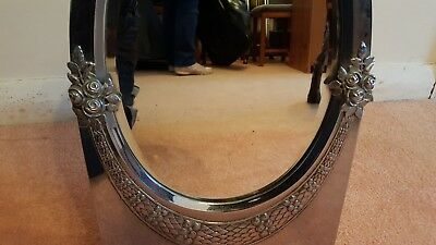Silver Framed Free Standing or Hanging Antique Mirror