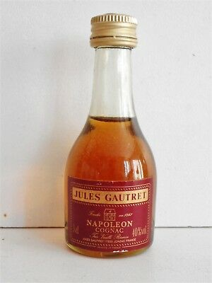 Mini Bottle Cognac Gautret Napoleon 3 Cl Miniature