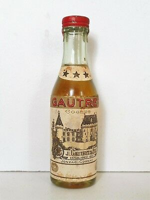 Mini Bottle Cognac Gautret Old *** 3 Cl Miniature