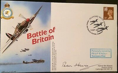 WW2 RAF BATTLE OF BRITAIN SIGNED FLT LT PETER HAIRS HURRICANE PILOT 3 Of 30 1940