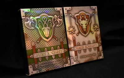 Knight Metallic Playing Cards Fury Rage Rare Limited Custom 2 Decks not Bicycle