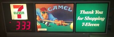 Camel cigarette 7 Eleven Display Sign With Clock