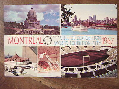 MONTREAL ville de l'exposition 1967 + TIMBRES EXPO EXPOSITION UNIVERSELLE