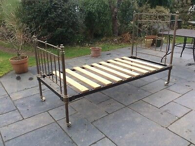 antique brass bedstead - single