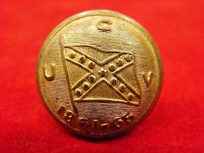 Ucv Coat Button Identified To Lt. James Turner, Company A, 1St Texas Rangers Csa
