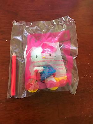 5720d4251 2004 Hello Kitty McDonalds Happy Meal 30th Anniversary Pedal Pusher #8 +  PENCIL