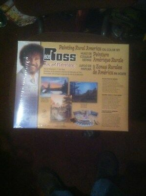BOB ROSS RURAL AMERICA PAINTING SET W/ BRUSHES AND OIL PAINTS Instructional DVD