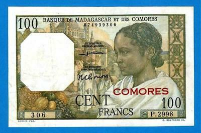 Madascar 100 Francs ND Series P2998 Rare Original!