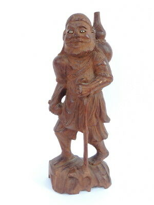 Rare Vintage Antique Wooden Wood Hand Carved Figurine Figure Statue Old Man