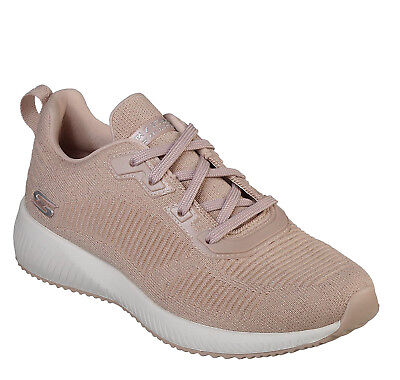 SKECHERS NEW BOBS Squad Total Glam light pink nude fashion trainers sizes 3 8
