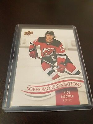 2018-19 Upper Deck Series 1 UD NICO HISCHIER Sophomore Sensations SO-NH Rare !!!