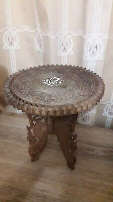 Indian Hand Carved Inlaid wooden Large Table