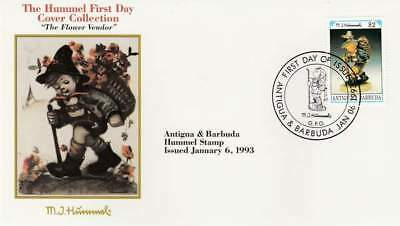 Hummel FDC Antigua & Barbuda 1993 - The Flower Vendor (049)