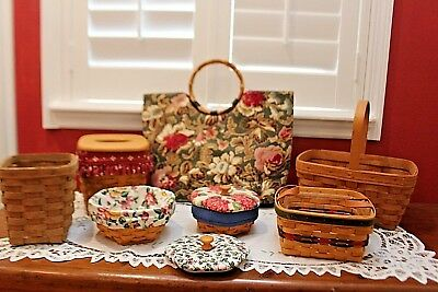 Longaberger Baskets, tote and Accessories