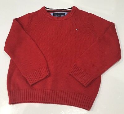 Boys Red TOMMY HILFIGER jumper Age 3T - Worn Once So In Excellent Comdition