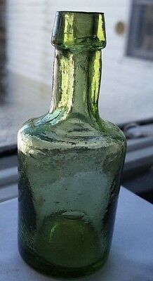 "3 3/4"" grass green Demijohn with applied lip. fantastic color LOOK!"