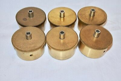 Mixed Lot of 6 Vintage Clock Springs Mainsprings Wheel Gear parts AS IS ..
