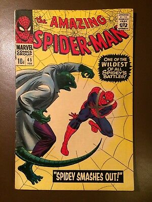 Marvel comics : AMAZING SPIDER-MAN # 45 ,1967, VFN+ / NM condition, Lizard issue