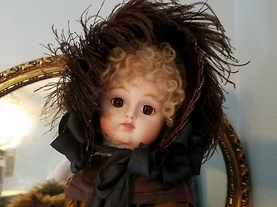 "Stunning Reproduction  French Antique 22"" Paris Bebe Pan Doll By Henri Delcroix"