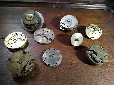 Vintage Clock Parts / Movements for spare parts job lot