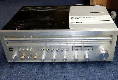 Aiwa high quality vintage receiver AX 7500 used. Good working order.