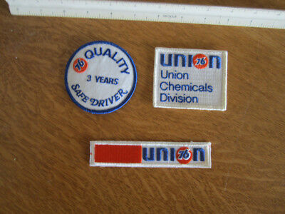3 - Vintage Union 76 Embroidered Patches