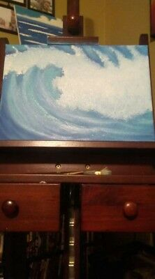 "Original hand painted. painting on canvas. ""My Wave"""