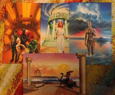 Barclay Shaw / Set of 4 Fantasy Heavy Stock Art Prints / Colossal Cards FPG