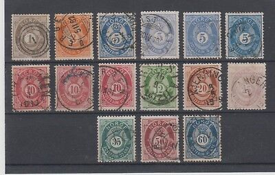 Stamps from Norway, NK22-NK31 Overcomplete series
