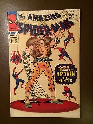 Marvel comics : AMAZING SPIDER-MAN # 47 ,1967, VFN+ / NM condition, Kraven issue