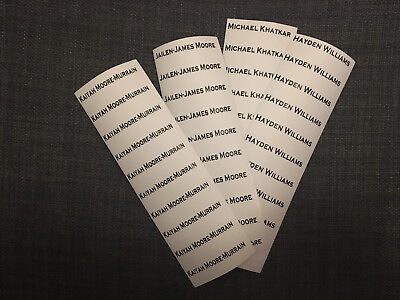 Waterproof Printed Iron-on Clothes Name Tags Labels School Uniform Nursery Tapes