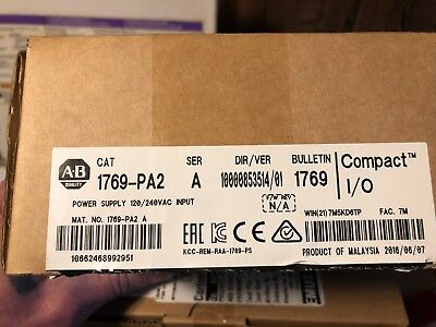2016-2018 US Stock New Allen-Bradley CompactLogix AC Power Supply 1769-PA2