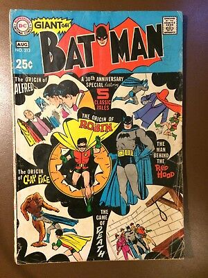 DC comics : BATMAN # 213 , 1969,  G , 30th anniversary  Giant sized issue